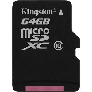 microSD de Capacidad Extendida (microSDXC) Kingston - 64 GB - 1 Tarjeta - Al por